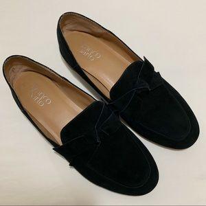 Franco Sarto Black Suede Loafers